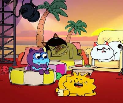 英国奇幻冒险动画片《爆笑喵星人 Counterfeit Cat》第一季下载 英语52集+中文52集