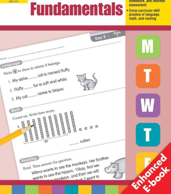 Evan Moor《daily fundamentals 每日一练》G1-G6共6册PDF下载 适合7-12岁 百度网盘