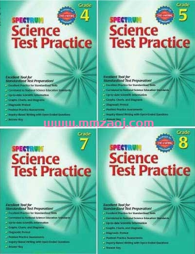 Spectrum Science Test Practice 欧美原版练习册G3-G8共6册下载 PDF格式 百度云网盘
